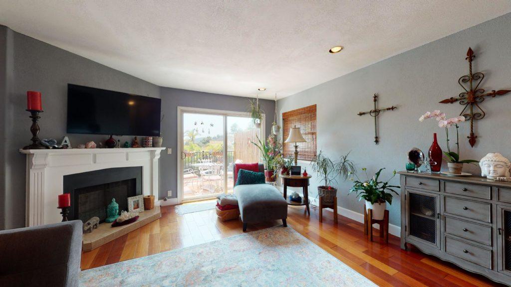 6577 Camino Capistrano living room with view